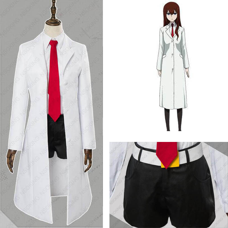 Steins Gate 0 Makise Kurisu cosplay kostüm custom made