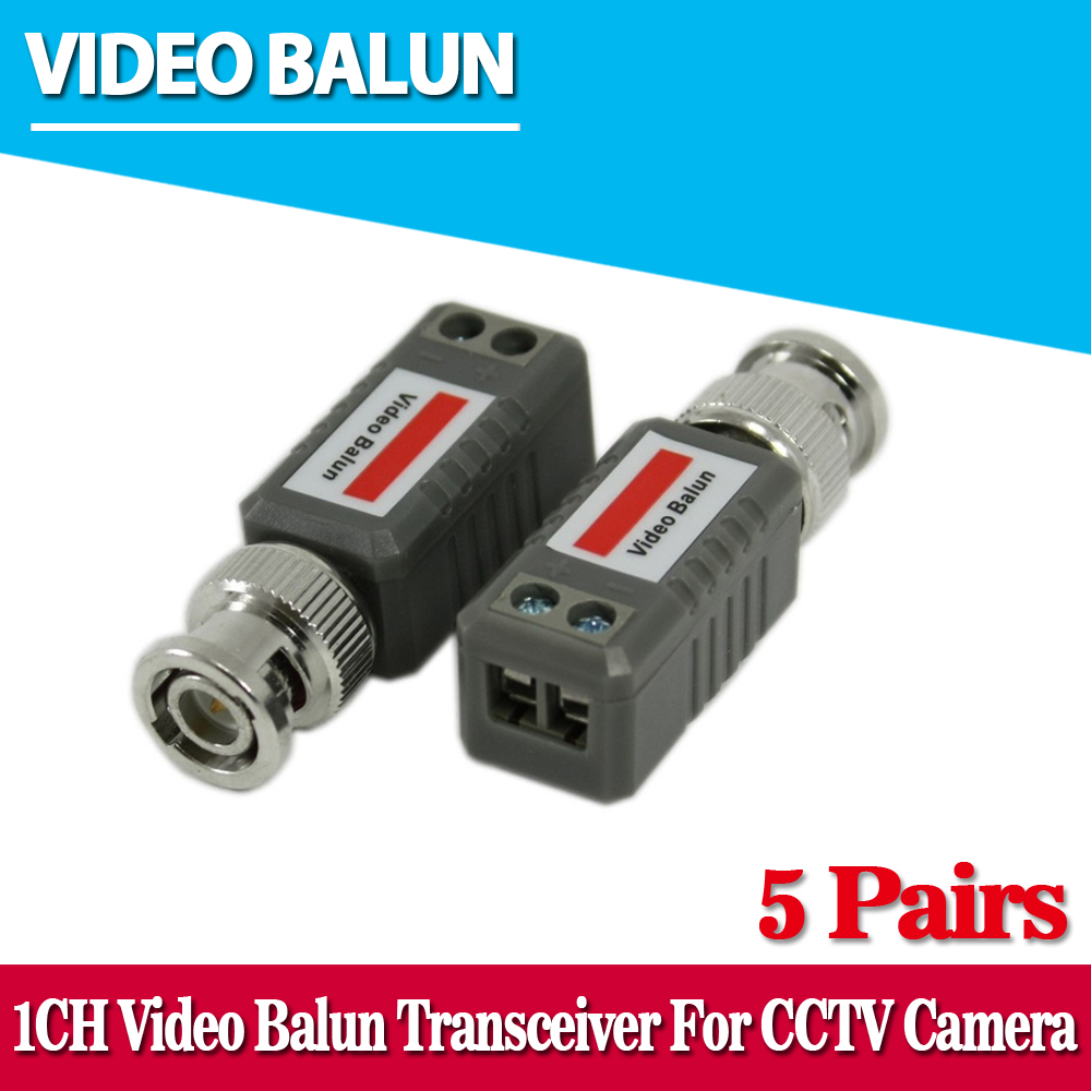 10 adet CCTV Video Balun Pasif Vericiler 2000ft Mesafe UTP Balun BNC Kablosu Cat5 CCTV UTP Video Balun
