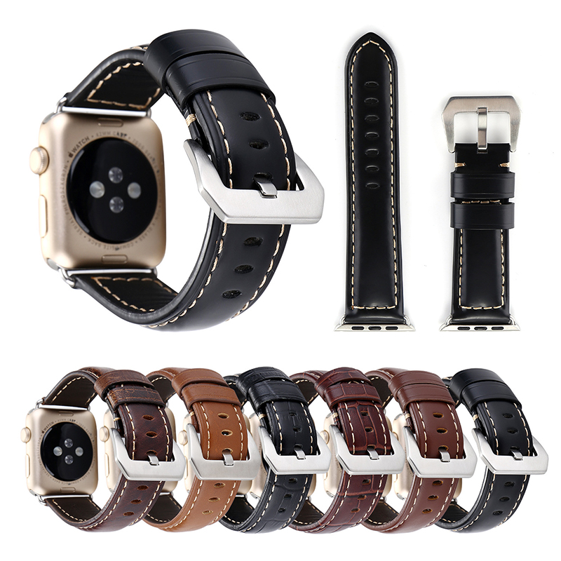 38-42mm Apple Wacth Horlogeband Band Vintage Hakiki Deri Kayışı Apple Izle Serisi 1 2 3 Akıllı Watch Band bilezik