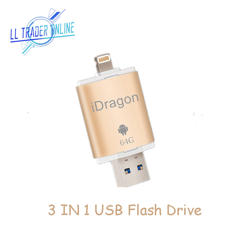 LL TÜCCAR 64 GB Flash Sürücü Pendrive Için iPhone iPad iOS Android Mini usb Flash sürücü Depolama OTG 32 GB anahtar usb Sopa flash bellek